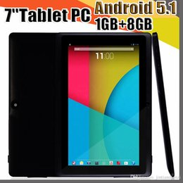 Wholesale JT 7 inch Q88 Tablets Quad Core AllWinner A33 1.2GHz Android 5.1 1GB RAM 8GB ROM Bluetooth WiFi OTG Tablet PC A-7PB