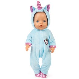 $enCountryForm.capitalKeyWord Australia - Doll Clothes for 17inch Reborn Baby Doll Clothes Unicorn Hoodie Coat Set Doll Animal Clothes Outfit Children Best Gift