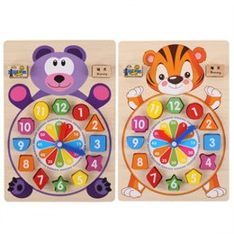 $enCountryForm.capitalKeyWord Australia - Baby Toys Wooden Block Clock Building Blocks Education Montessori Table Game Kids Toy for Children Teaching Gifts