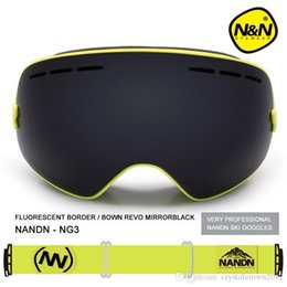 Red Ski Goggles Australia - NG3 Snowboard Ski Goggles Large spherical lens Professional Double-dlayer Skiing Goggles