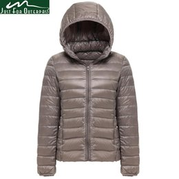 Wholesale women parka brands for sale – warmest winter 2019 New Brand White Duck Down Jacket Women Autumn Winter Warm Coat Lady Ultralight Duck Down Jacket Female Windproof Parka
