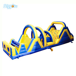 kids inflatable bounce house NZ - Large Exciting Races Inflatable Obstacle Course Bouncy Castle Combo Slide PVC Tarpaulin Bounce House for Kids and Adults