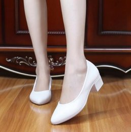 $enCountryForm.capitalKeyWord Australia - Hot Selling 2019 Famous Spring Autumn New Shoes Woman High Heels White Black Work Nurse Shoes Genuine Leather Shoes Women Pumps 5 Cm