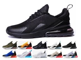 cheap for discount 9b200 13276 Nike Air Max 270 Chaussures air 270 Trainer Cushion Chaussures de course  triple Hommes Femmes Noir Blanc presto Sport Shock Marche Randonnée air 270  ...