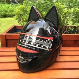 Helmet Horns online shopping - Motorcycle Helmet Full helmet summer Four Seasons sun protection men and women fashion cross country full covered belt horn