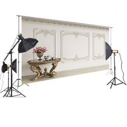 vintage photography backdrops Australia - HUAYI Photography Backdropliving Room Photography Backdrop Vintage Table Elegant Wall Indoor Furniture Wall XT-7336