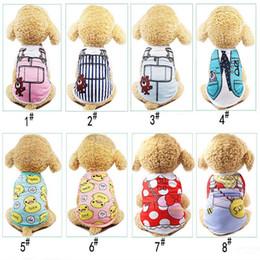 $enCountryForm.capitalKeyWord Australia - Cute Pet Dog Cat T-shirt Vest Clothes Small Cotton Puppy Soft Coat Jacket Summer Apparel Cartoon Bikini Print Clothing Outfit Pet Suppy