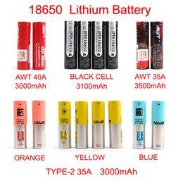 bateria recarregável New Arrival AWT 18650 bateria 3000mAh-3500mAh para Mix marca pilha preto MXJO tipo de bateria 1 2 lítio por FedEx em Promoção