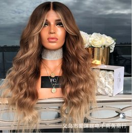long hair wave style Canada - New Wig Long Hair Big Wave Medium Black to Brown Star Celebrity Inspired Brown Big Wave Popular Style