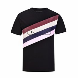 Chinese  Spring Summer 19ss Luxury Europe Italy Striped Eyes Tshirt Fashion Men Women Cotton T Shirt Casual Tee manufacturers