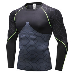 Quick Drying Sports T Shirt Australia - 2019 Men Fitness T-Shirts Male Sport Long Sleeve Quick Dry Gym T Shirt Cycling Basketball Clothing male Outdoor sportswear Bottoming shirt