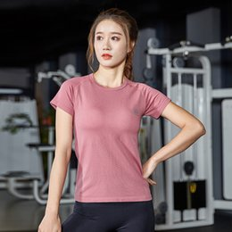 $enCountryForm.capitalKeyWord Australia - new sexy slim sports fitness running dance yoga quick-drying breathable women's fashion T-shirt