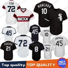 4add7353dd0 10 Yoan Moncada Chicago White Sox Baseball Jersey 8 Bo Jackson 45 Michael  72 Fisk 21 Todd Frazier 35 Frank Thomas 79 Jose Abreu Stitched