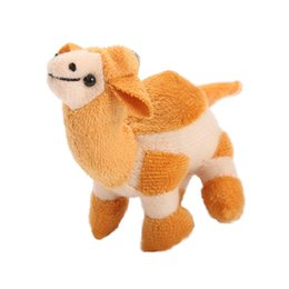 plush stuffed roses UK - Cute Soft Camel Key Chain Funny Stuffed Kids Gift Toy Plush Little Camel With A Key Chains Stuffed Plush Doll Lovely Shape