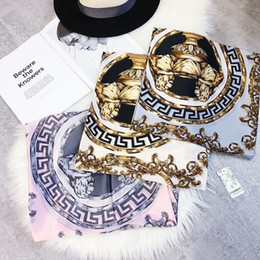 Lace Print Scarf Australia - High quality Fashion Scarf Luxury Women Brand Silk Scarf Women Scarves Shawl High Quality Print hijab wrap 180*90 CM