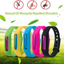Vente en gros Anti-moustique Bracelets Huile Essentielle Naturelle Imperméable Extérieure Anti Moustique Pest Insecte Bande de Poignet pour Enfants Adulte Non Toxique Coffre