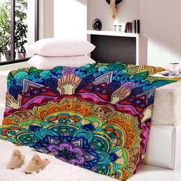 $enCountryForm.capitalKeyWord Australia - Mandala SoftThin Nap blanket Velvet Plush Beach Towel For Children Blanket Throws Summer Indian bedsheet Travel Dropship Custom