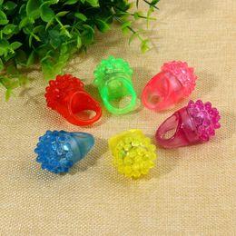$enCountryForm.capitalKeyWord NZ - Flashing Bubble Ring Rave Party Blinking Soft Jelly Glow Hot Selling!Cool Led Light Up 1500Pcs