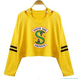 4a2ce51562c7 Woman Sexy T Shirt UK - 2019 Riverdale South Side Serpent Sexy Long Sleeve  Cotton Crop