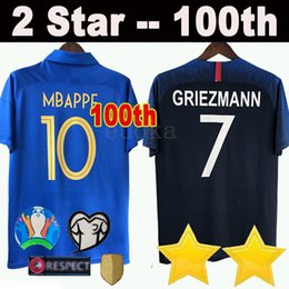 758a8db99a9 Men navy shirt online shopping - 2019 th anniversary islande Soccer jerseys  Navy MBAPPE GRIEZMANN POGBA