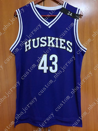 Cheap custom Kenny Tyler  43 Huskies Basketball Stitched Jersey The 6th Man  Purple Customize any name number MEN WOMEN YOUTH JERSEY XS-5XL 925097f68