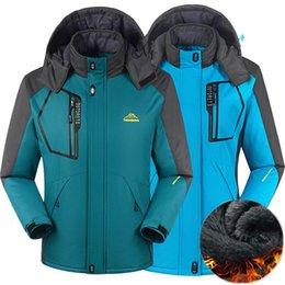 Parkas Outdoors Australia - Men women Winter jacket outdoor hiking coat men thermal Windbreaker male camping skiing sport parkas jacket waterproof windproof