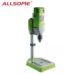 $enCountryForm.capitalKeyWord Australia - ALLSOME Mini Drilling machine Drill Press Bench Small electric Drill Machine Work Bench gear drive 220V 710W 5156E