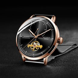 Binary Men Luxury Watches NZ - Relogio Masculino WISHDOIT Luxury Brand Tourbillon Automatic Mechanical Watches Men Casual Business Waterproof Watch C19010401
