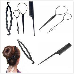 Roller Setting Hair Australia - One Or 4pcs set Magic Hair Styling Accessories Set Braiders Hair Pin Bun Roller Maker Braiding Twist Curler Styling Tool