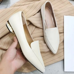 Black Sequins Shoes Australia - Hot Sal-Wholesale Top Quality Sequins Heels Office Dress Shoes Genuine Leather Women Loafers Shoes Casual Shoes Black White 2019 New Arrival