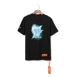 "Print Quality Lycra T Shirts UK - 2019"" Heron Hot T-shirt Fashion off Men High Quality 100% Cotton Summer Style Short Sleeve T shirts Brands Clothing Letter Print Tee"