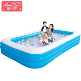 Swim Pool Family UK - Infant and children's swimming pool inflatable family baby adult home marine ball pool thickening oversized paddling