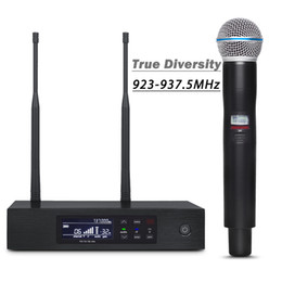 $enCountryForm.capitalKeyWord NZ - 923-937MHZ !! Professional UHF Digital Wireless Mic System QLXD4 !! True Diversity Stage Performance Single Handheld Microphone