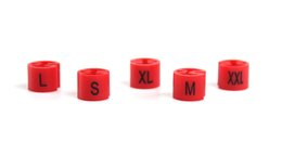$enCountryForm.capitalKeyWord Australia - Red Plastic Hanger Size Markers pre printed sizes colors assorted S M L XL XXL Hanger SIZE ring snap