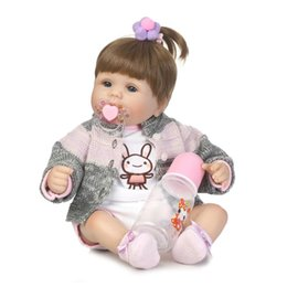 real silicone reborn girl doll 2019 - 40cm Silicone reborn baby doll toys like real newborn princess girls babies reborn toy fashion birthday present Xmas che