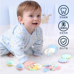 Baby Rattles Australia - Toddler Toys Rattles Mobiles Cute Newborn Teether Baby Hand Bells 0-12 Months Hand Grab Rattle Infant Early Educational Baby Rattles Toys