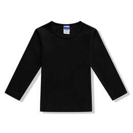 $enCountryForm.capitalKeyWord NZ - Black Long Sleeve Blank Boy Girl Basic T Shirt Boys Black White Undershirt Kids Clothes 2 3 4 6 8 10 Years Old