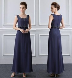 Mother Bride Dark Navy Dress Australia - Lace Applique Mother Of The Bride Dresses With Jacket Chiffon Floor Length Mother Bride Gowns Long Sleeve Mother Of Groom Gowns DH4031