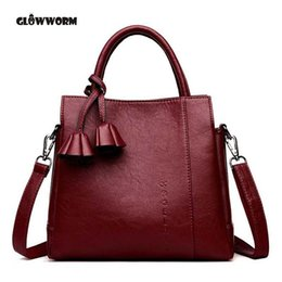 Brand name ladies leather Bags online shopping - Women Bag High Quality Leather Tote Brand Name Bag Lady Handbag Lady Evening Bags Solid Female Messenger Bags Travel Fashion S