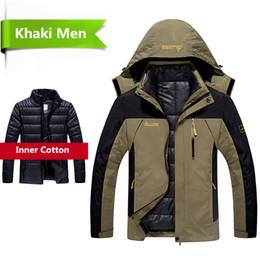 Waterproof Parkas Australia - 2019 Winter jacket men 2 in 1 outwear thicken warm parka coat Patchwork waterproof hood Down Jacket size L~6XL doudoune homme