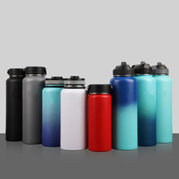cold steel water bottle Australia - 304 stainless steel hydraulic water bottle vacuum pot vacuum flask outdoor sports kettle insulation cold sports pot lot of colors for choose