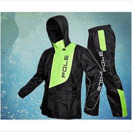 Waterproof Motorcycle Jacket Fashion Australia - New Fashion Outdoor Sports Fishing Man & Woman Waterproof Raincoat Suit Motorcycle rain jacket poncho Large Size rain coat #16883
