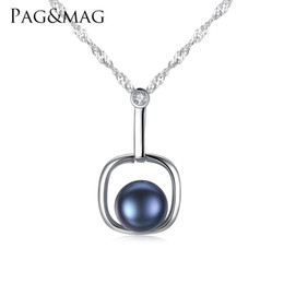 water wave pendant NZ - PAG&MAG S925 pure silver pendant water wave chain lady necklace natural freshwater pearl allergy-proof pearl necklace woman