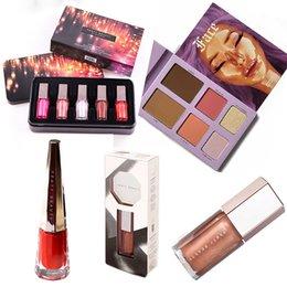 Maquiagem conjunto batom olho sombra coleção de beleza produtos para surpresa presente face pó lipgloss 6 pcs kit cosmético em Promoção