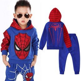 $enCountryForm.capitalKeyWord Australia - 2019 Winter Spiderman Sets Clothing Baby Boys Clothes Pants Easter Kids Sports Suit Costume Tracksuit For Boys 3 4 5 6 7 Year Y190518