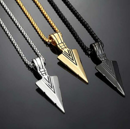 $enCountryForm.capitalKeyWord Australia - Personality Pendant Gift Cheap New Accessories Arrow Necklace Fashion Necklace Jewelry Men Vintage Alloy Simple Women Creativity