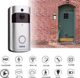 $enCountryForm.capitalKeyWord NZ - 2019 new EKEN V5 Smart Video Intercom Video Door Phone Door Bell WIFI Doorbell Camera For Home IR Alarm Wireless Security Camera