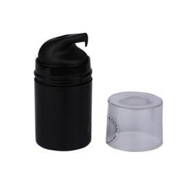 $enCountryForm.capitalKeyWord Australia - 30pcs lot 50ml Black Plastic Airless Lotion Pump Bottle Empty Vacuum Pressure Elmusion Travel Cosmetic Containers Packaging