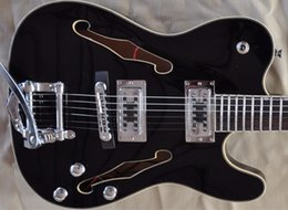 $enCountryForm.capitalKeyWord NZ - Black double F-hole hollow electric guitar for personalized service