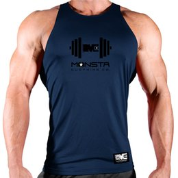 Wholesale guys clothing for sale – custom Casual gyms clothing Brand singlet Print bodybuilding stringer tank top men fitness Tops muscle guys sleeveless vest Tank